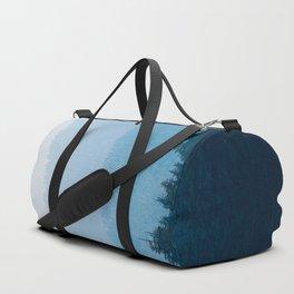 Parallax Mountain Hills Blue Hues Minimal Modern Landscape Photo Duffle Bag