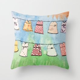 Dresses in the Sun Throw Pillow