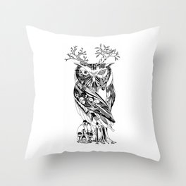 The Wonder Kingdom: The Owl of Life and Death Throw Pillow
