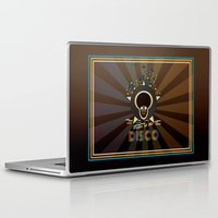 panic at the disco Laptop & iPad Skins featuring Panic at the disco by mangulica illustrations