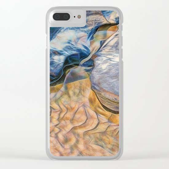 Abstract beautiful rocks on the sand Clear iPhone Case