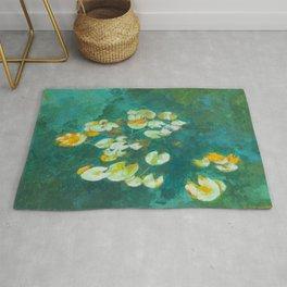 Serene Lotus Pond Rug
