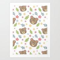 Spring Cute Bear Art Print