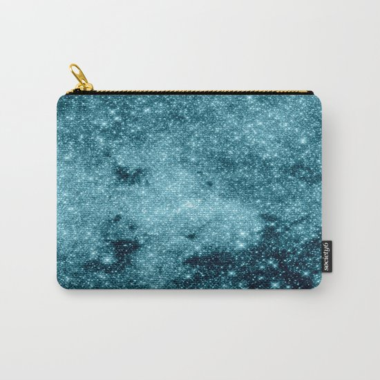 Teal Galaxy STars Carry-All Pouch