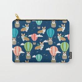 Corgi Hot Air Balloons - cute dogs design Carry-All Pouch