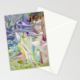 Abstracted Spring Iris Stationery Cards