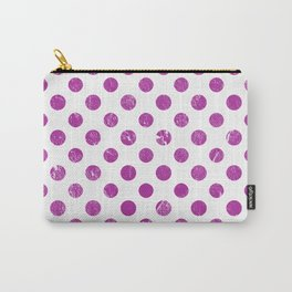 Hand painted modern magenta polka dots pattern Carry-All Pouch