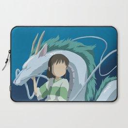 Minimalistic Spirited Away Chihiro and Haku Laptop Sleeve
