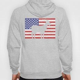 United States Flag & Goat Hoody