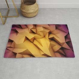 Colored crystal formation Rug