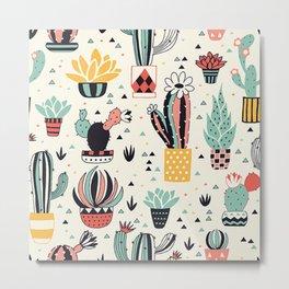 Cute Cactus Succulent Lover Gift Metal Print