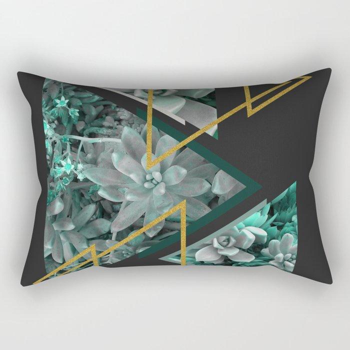 Gloomy Succulents #society6 #decor #buyart Rectangular Pillow