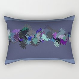 Floral Motif Rectangular Pillow