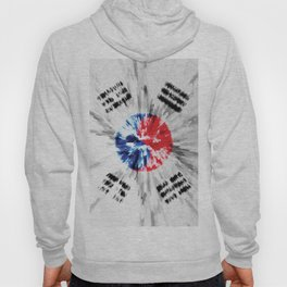 Extruded flag of South Korea Hoody