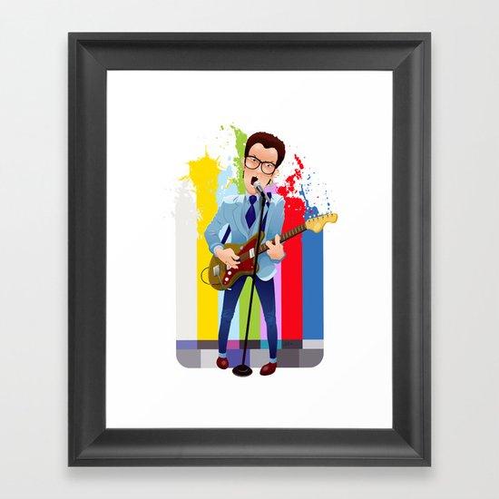 Elvis (Costello) Lives! Framed Art Print