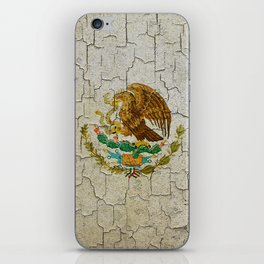 Cracked Mexico flag iPhone Skin