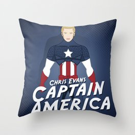 Heroes Unmasked Series: Capt. America Throw Pillow