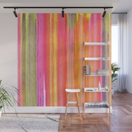 Neon Line Streaks Abstract Wall Mural