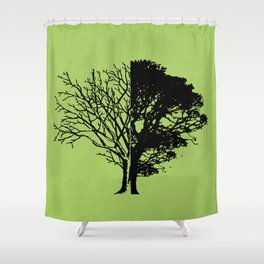 Life and Death Shower Curtain