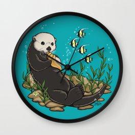 A Master Beckons Wall Clock
