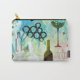 Abstract Wine Background Carry-All Pouch