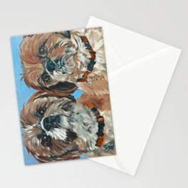 Shih Tzu Buddies Dog Portrait Stationery Cards