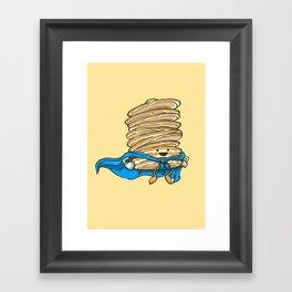 Captain Pancake Descends Framed Art Print