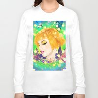 hayley williams Long Sleeve T-shirts featuring Digital Painting - Hayley Williams - Variation by EmmaNixon92