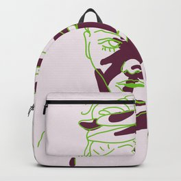 shadow of hand (green and purple) Backpack
