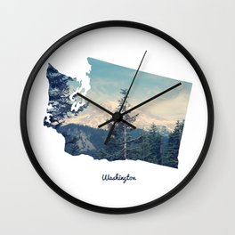Washington State Wall Clock