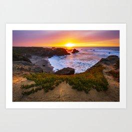 Glassy Northcoast Sunset Art Print