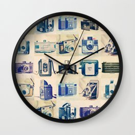 Vintage Camera Collection Wall Clock
