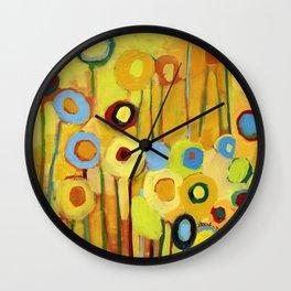 Growing in Yellow No 5 Wall Clock