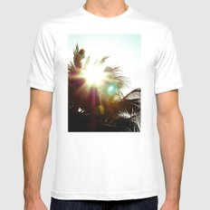 Against White MEDIUM Mens Fitted Tee