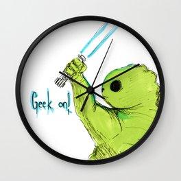 Geek On Wall Clock