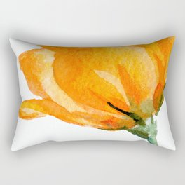 Orange Rose Rectangular Pillow