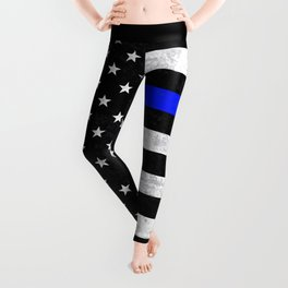 Thin Blue Line Flag 2 Leggings