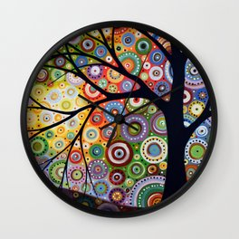 Abstract Landscape Original Painting...VISIONS OF NIGHT, by Amy Giacomelli Wall Clock
