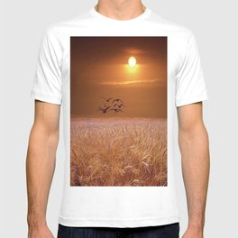 bird and yellow T-shirt