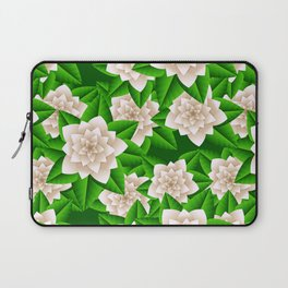 White Camellias and Green Leaves Laptop Sleeve