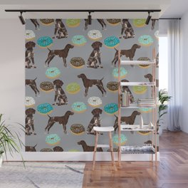 German Shorthair Pointer donuts dog art custom pet portraits of dog breeds by pet friendly Wall Mural