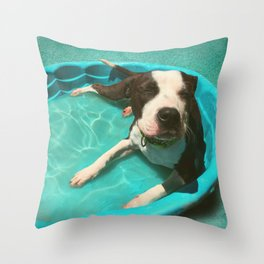 SERENA (shelter pup) Throw Pillow
