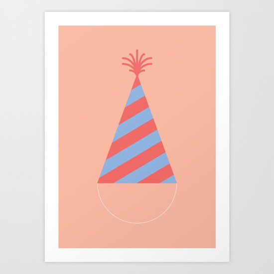 #43 Party Hat Art Print