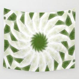 Green White Kaleidoscope Art 10 Wall Tapestry
