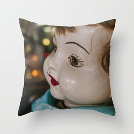She is looking at you Throw Pillow