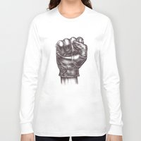 fight Long Sleeve T-shirts featuring FIGHT by Lassana