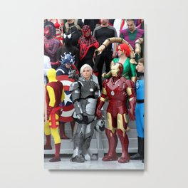 D*Con: Iron Man & Co. Metal Print