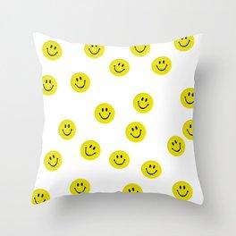 Smiley Smiley Smiley Throw Pillow