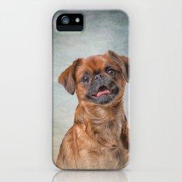 Drawing Dog breed Griffon Brabanson iPhone Case