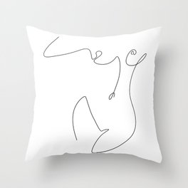 Curve Throw Pillow